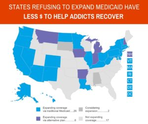 19 States refusing medicaid expansion